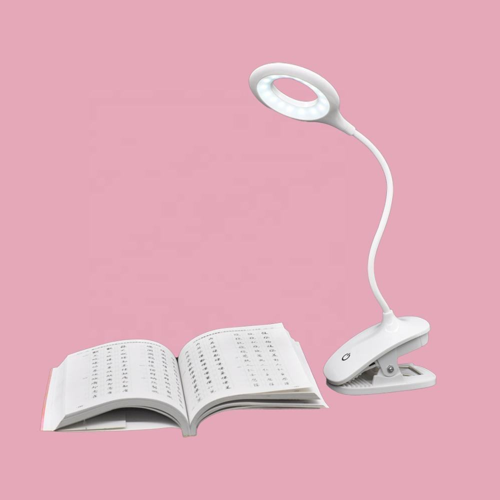 Amazon 2020 USB power 5W Led Desk lamp USB Foldable Clip Bed Reading Book Night Light LED table lamp