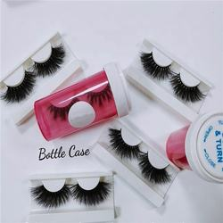 Popular Private Logo Custom Package Red/Black/Green/Blue/White/Purple Pill Boxes Bottle Mink 25mm Lashes