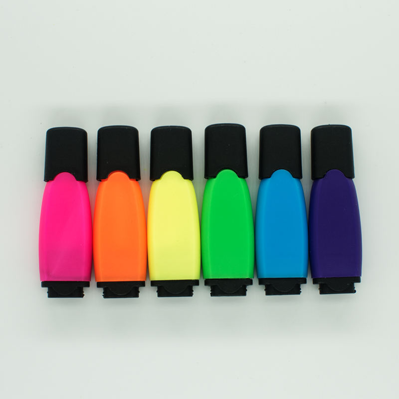 Waterproof Highlighter Hot Sale Mini Color Waterproof Plastic Highlighter For Unbrand