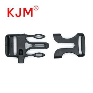 KJM China Factory Plastic Side Release Survival Bracelet Buckles Whistle Clasp