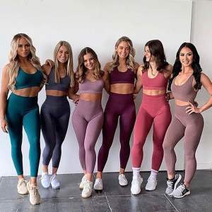 Wholesale Sport Suit Women Fitness Clothing Sport Wear Yoga Set Gym Sportswear Running Leggings Women Set