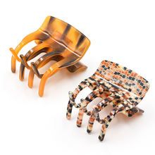 custom acetate hair claws clips for women tortoiseshell jaw hair claw crab hair clips for girls