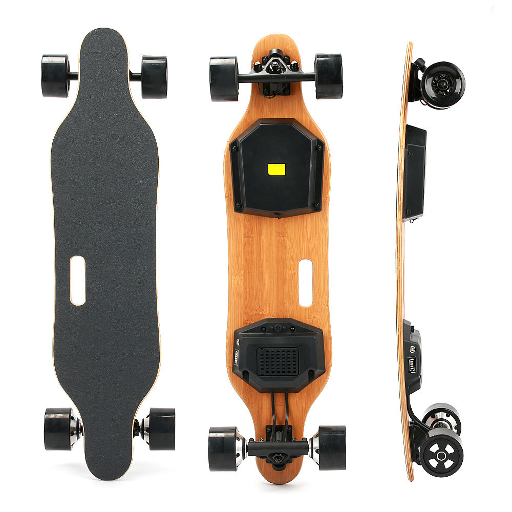 stock in USA USD279 600W*2 Dual Motors Remote Controller DIY Longboard with Split box Electric Skateboard
