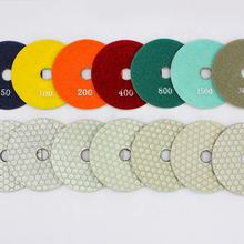 China 100mm white dry grinding diamond tip polishing pad
