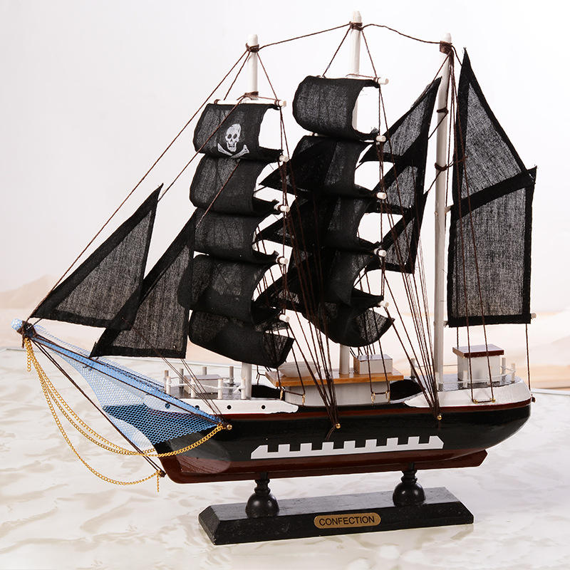 Mediterranean sailing ship creative pirate ship wooden craft decoration decoration wholesale sailing ship model