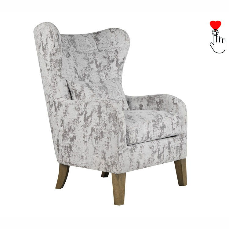 Marble High Back Cheap Gray King Throne Wing Chair Sofa