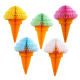 Zilue Ice Cream Party Hanging Tissue Paper Honeycomb Ball Wedding Birthday Party Decoration