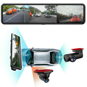 11.88 inch Stream Media Mirror Three Lens Driving Car DVR Camera Recorder with Reversing Blind spot