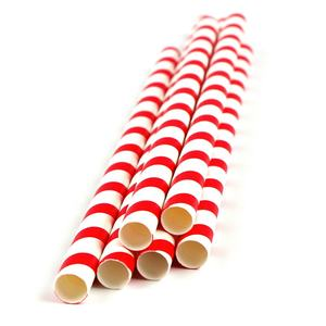 12mm paper straws wrap biodegradable drinking bubble tea straw boba custom disposable