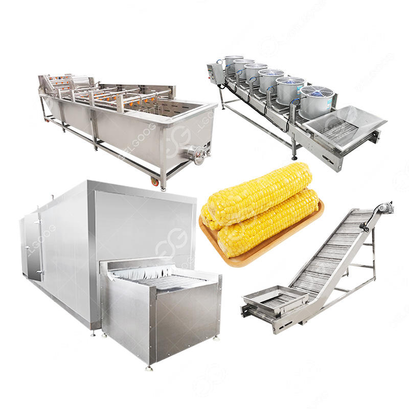Hot Sale Iqf Frozen Freezing Zucker mais Kernel Verarbeitung <span class=keywords><strong>Maschine</strong></span> Frozen Sweet Corn Line