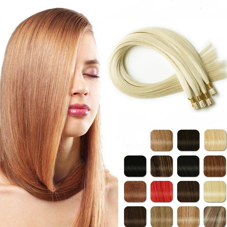 First-Rate Quality 100% Human Unprocessed Keratin U And I Tip Hair Extension