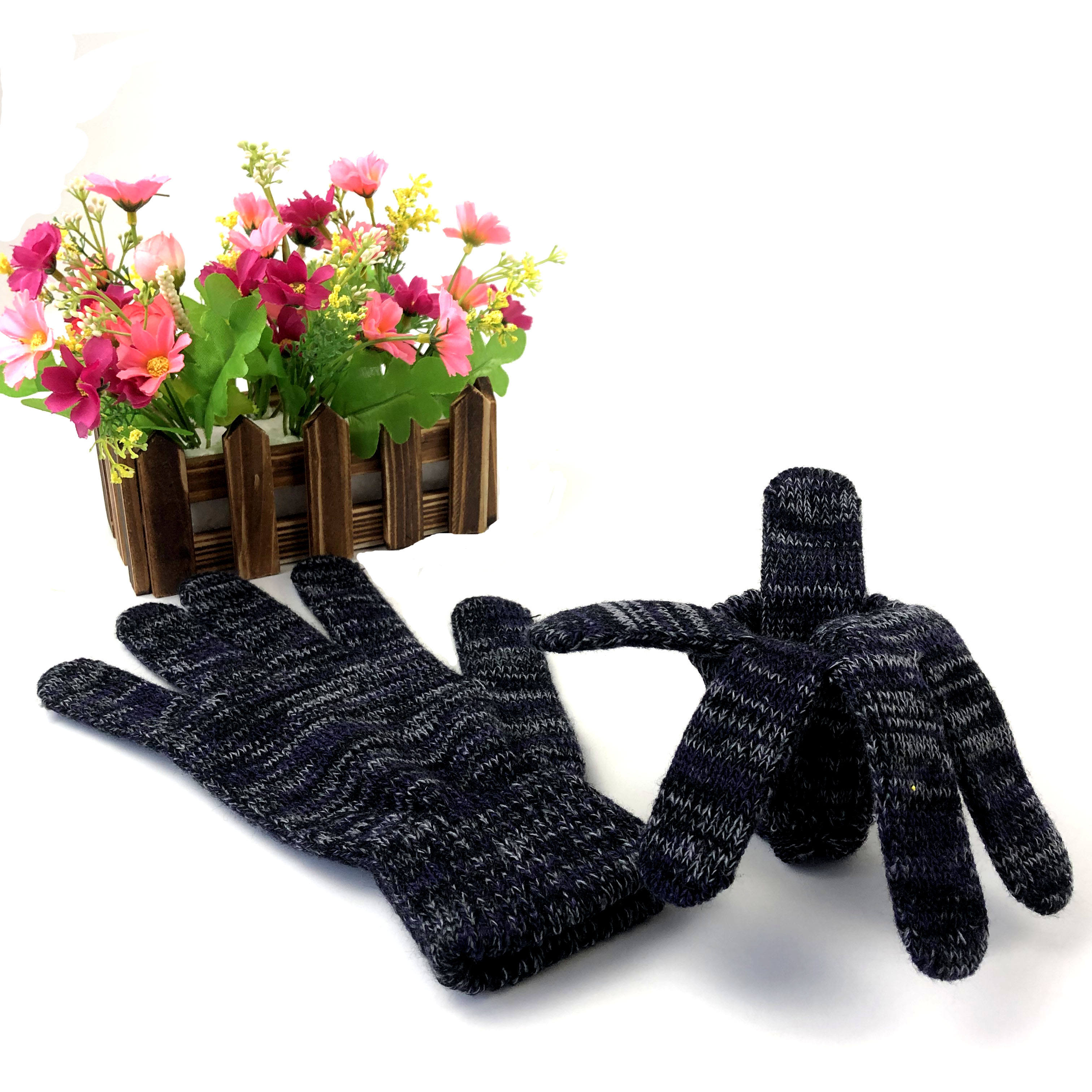 hot selling wholesale designer magic promotion winter acrylic knitted gloves