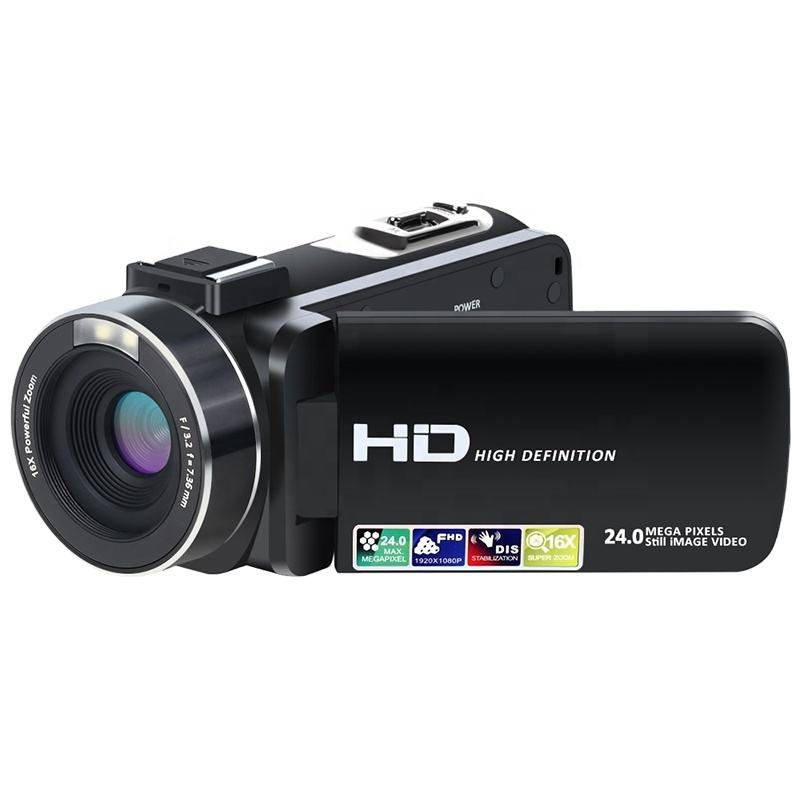 24MP 3.0 inch TFT 16X Digital 줌 풀 hd 1080 p digital 캠코더 video camera
