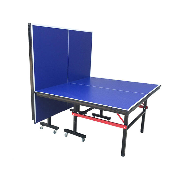 Indoor MDF 12mm folding training ping pong table tennis table with free table tennis paddle set
