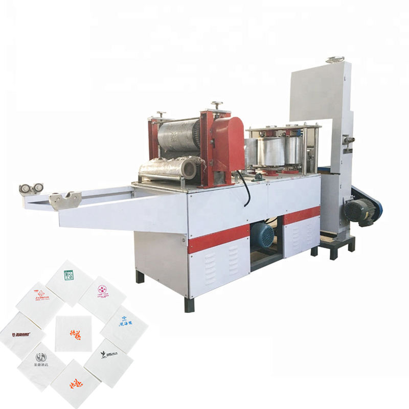 automatic dinner lunch tissue paper napkin embossing folding converting making production folder machine line for sale price