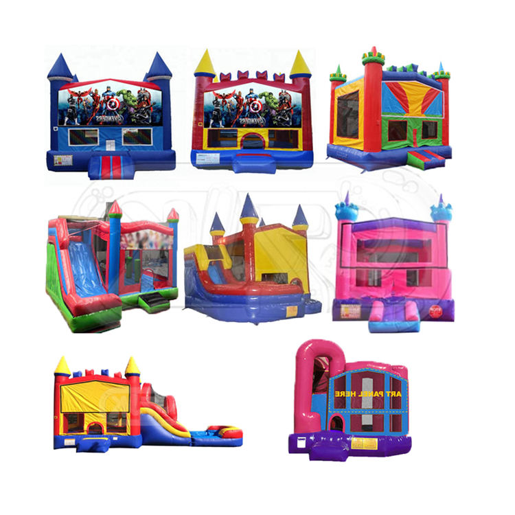 toy commercia linflatable bouncer jumping castle bounce house with exchengeable printing banner