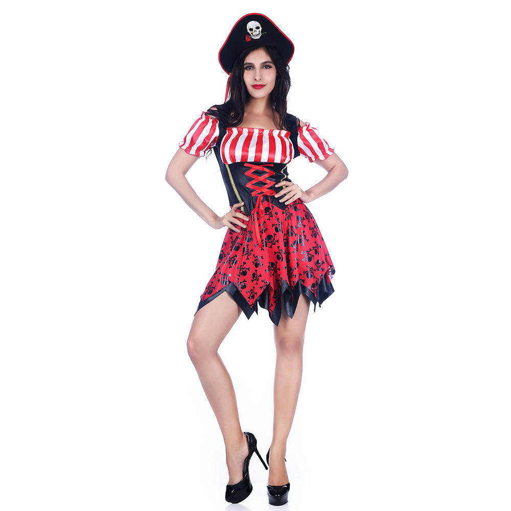 cosplay costume adult Skeleton Pirate Dress Sexy Women's Cosplay Party Character Uniform Party Culture halloween costumes