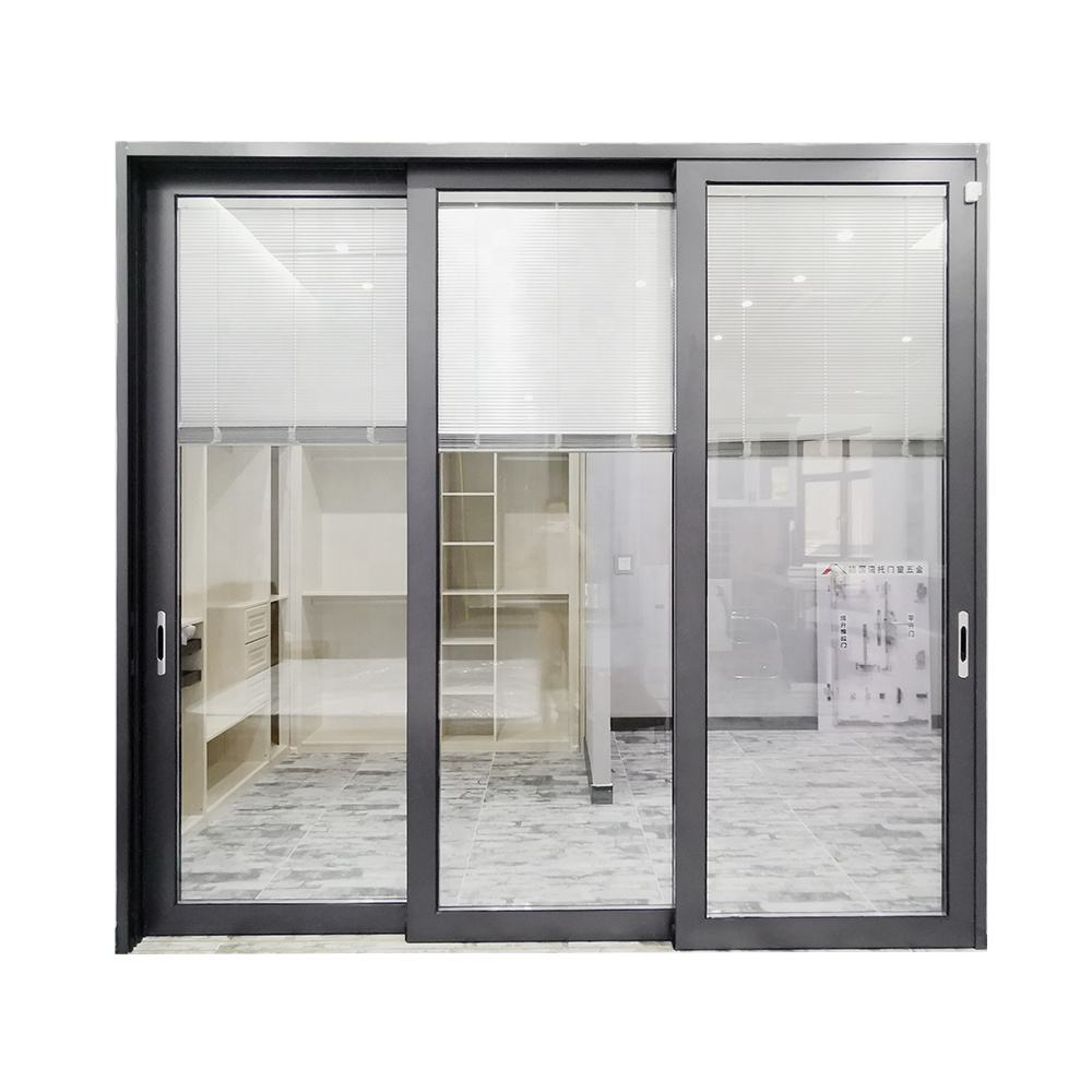 Sliding Glass Doors With Built In Blinds/Exterior Aluminum Louver Sliding Door