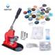 Button Maker Rotate Button Badge Machine with 1000 Sets Circle Parts Punch Press Machine for DIY Badges