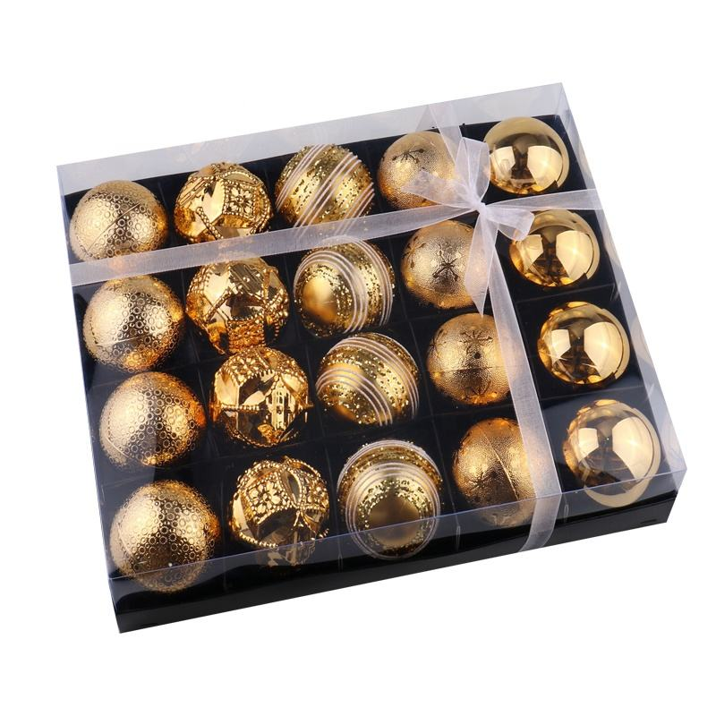 6cm gold color Christmas gifts ball decoration hanging Christmas tree ornament