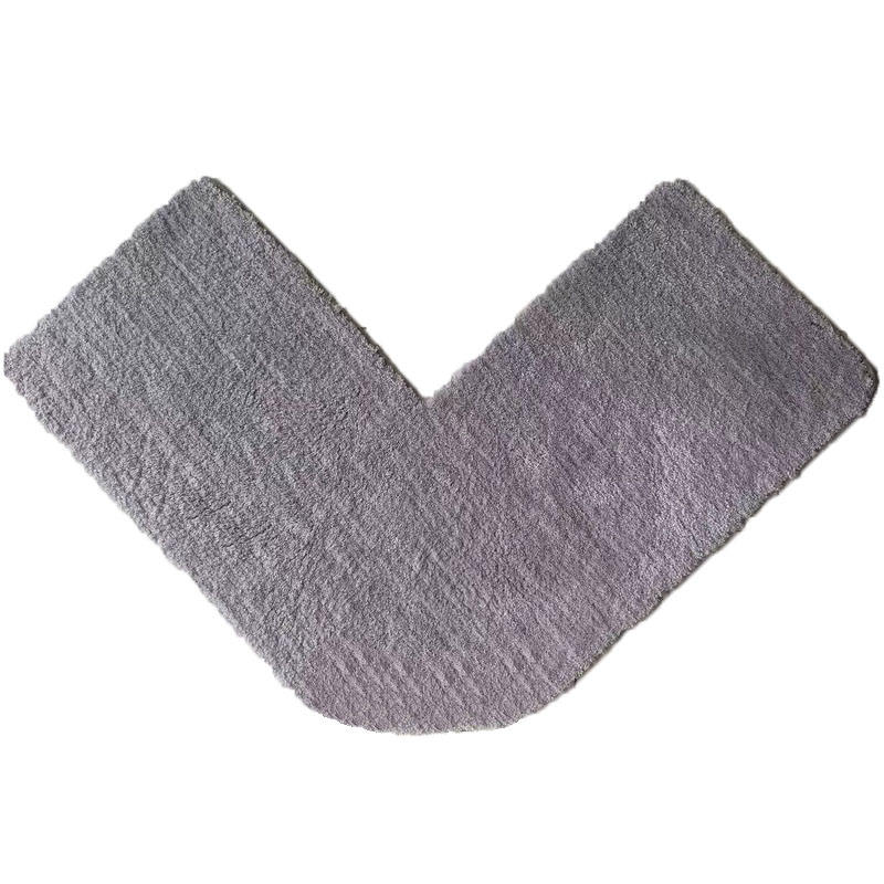 Nonslip and water absorbent L shape corner shower mat