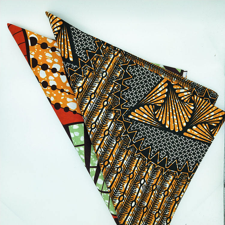 100% high quality polyester Soft Ankara Prints Wax Fabric Beautiful Classic Kente Design