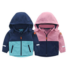 OEM Customization Kids Boys and girls woven softshell rain jacket kids clothing custom rain jacket