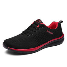 New Mesh Men Casual Lac-up Shoes Lightweight Comfortable Breathable Walking Sneakers Tenis Feminino Zapatos