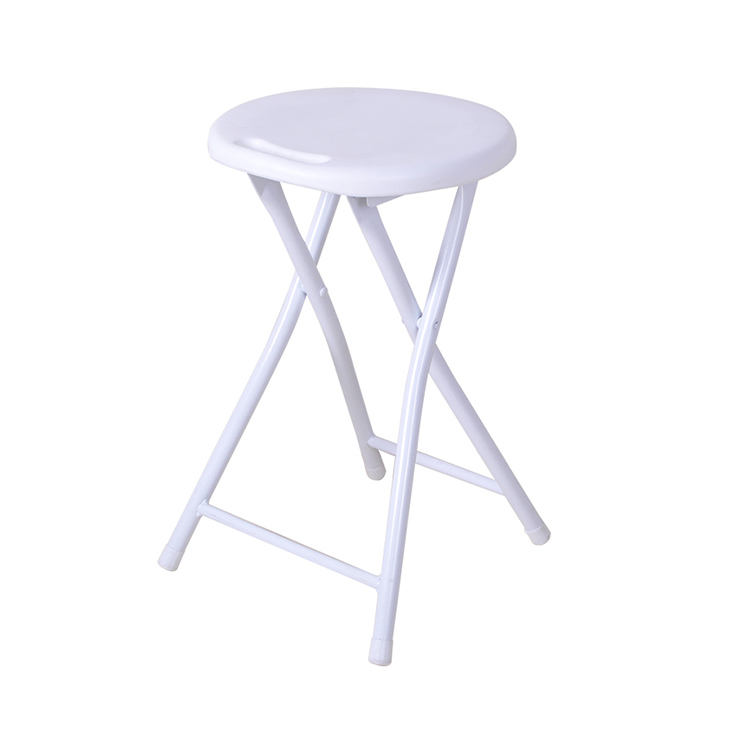 High Quality Cheap Small Round White Folding Stool