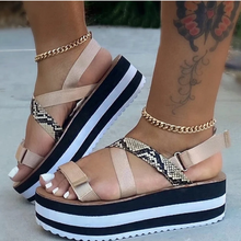 Light Thick Sole Women High Platform Shoes Open Toe Strappy Sandals