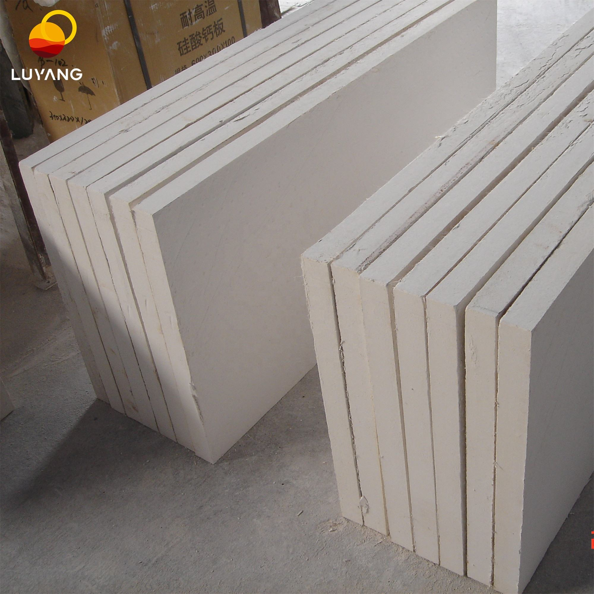 Calcium Silicate Board LUYANG Fire Resistant High Strength 650 Degree Insulation Calcium Silicate Board