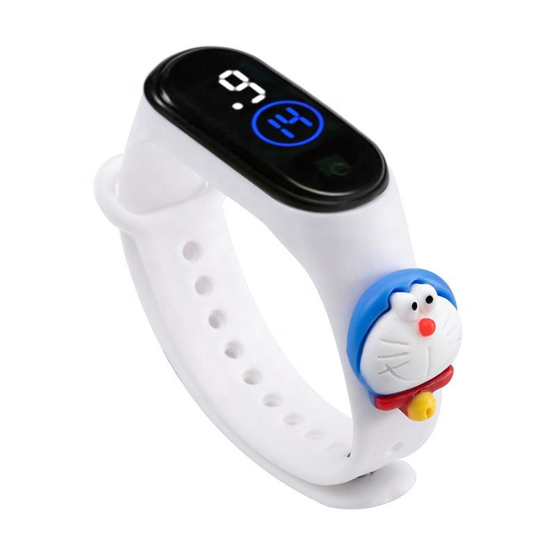 Cute Cartoon M4 Band Children Watches Waterproof Touch Screen Digital Led Watches For Kids Jam Tangan Anak