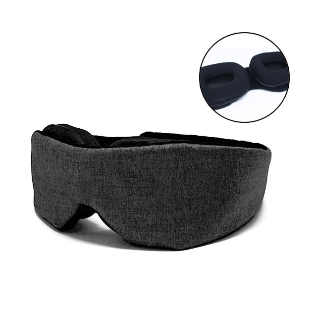 New design custom soft 3d sleep travel eye mask with pouch