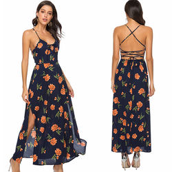 Plus Size Casual Sleeveless Summer Party Ladies Woman Long Dress