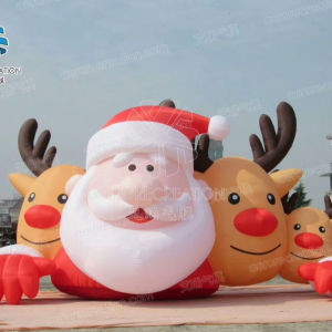 inflatable santa claus balloon snowman for christmas decoration