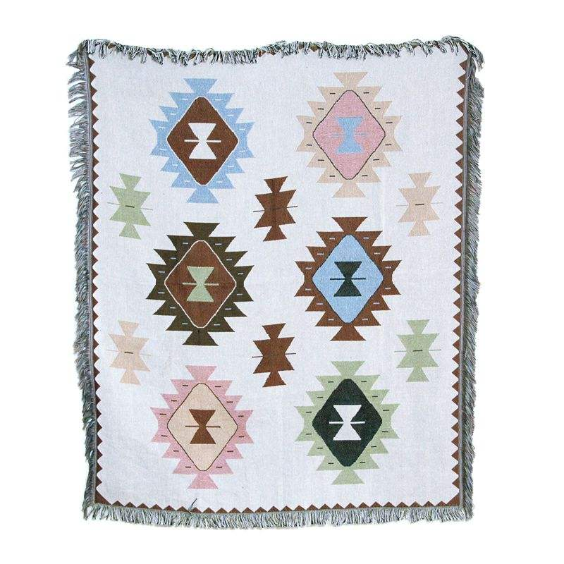 Customized mexican cotton woven throw blanket king size