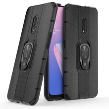 Skid Resistance 360 rotation ring stand car magnetic holder phone case For oppo realme x ultra thin back cover