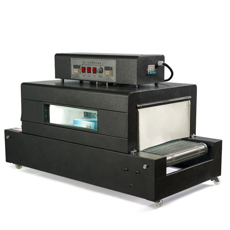 BS-400 Hot sale table top thermal film wrapping shrink tunnel packing machine