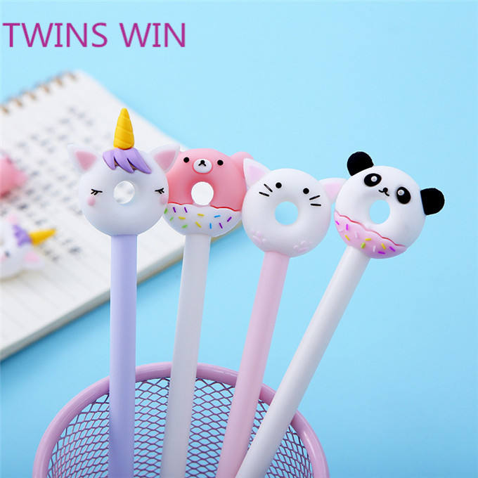 China custom school Kids stationery items wholesale new arrival 2020 fancy pens cartoons unicorn gel ink pens 0.5mm 2012