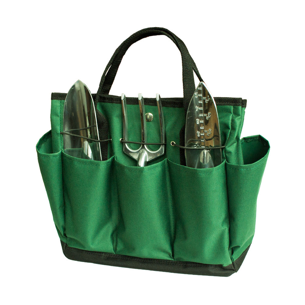 High quality best hand tools set outdoor multi pocket gardening tool kit holder canvas bag