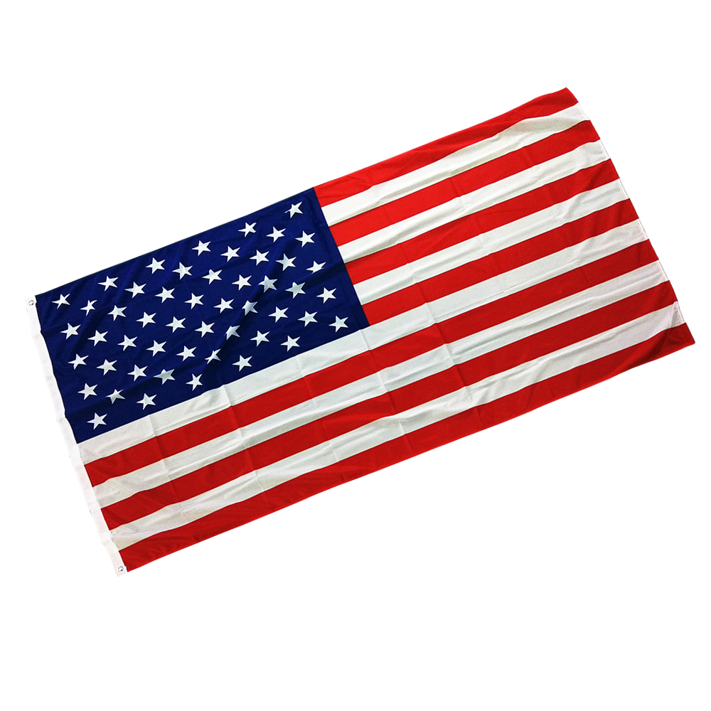 Best selling custom printed cotton buy american flags