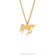 Animal Necklace Gold Plated Unicorn Necklace For Women Kids