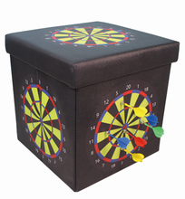 Multi-Function Hall Storage Stool Decoration Storage Seat with dart board Change PVC dart disk playable Box