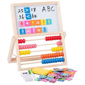 Kids wooden math toys 2 in1 multifunctional abacus and double-sided drawing board for toys child educational