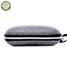 2020 hot sale Cheap denim zipper eva sunglasses case luxury travel portable square hard shell sunglasses protective case