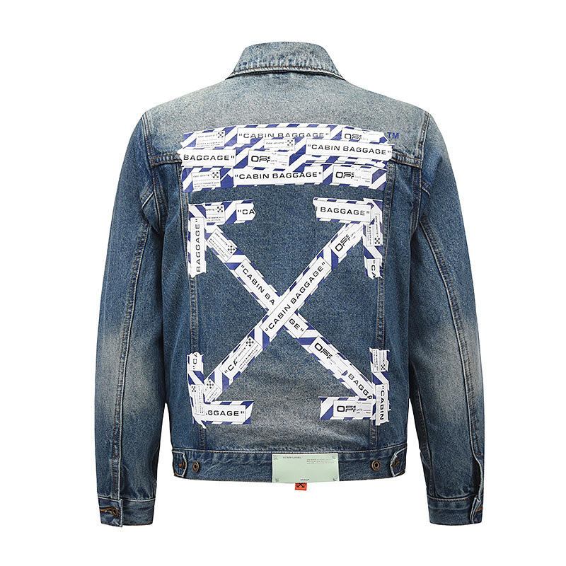 Fashion cameras fotos chamarras men half color jean jacket