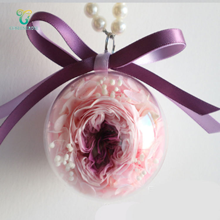 Double Colored Box Rose Head Car Hangings Vehicle Interior Decor