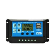 intelligent 10a pwm solar controller regulator 20a 30a 12v 24v lcd display USB 5V 2A controller