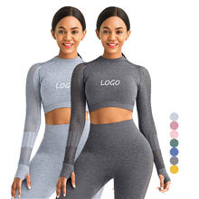 custom logo  high waist printed sport two piece woman sport fitness and seamless yoga wear sets wear tops