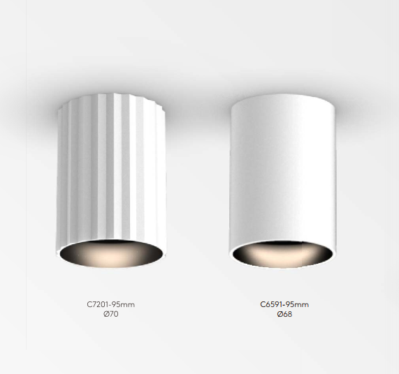 ECOJAS C6591/C7201 COB New Cylinder Adjustable Aluminum Decorative Ceiling Surface Mounted Downlight Lighting